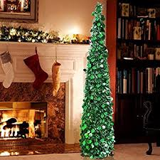 collapsible trees yuqi tinsel artificial tree