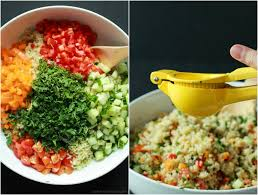 easy salad recipe quinoa tabbouleh salad easy healthy recipes using real ingredients