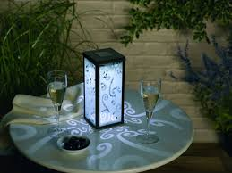 Outdoor Solar Table L Decorative Shade White Led Outdoor Dining Table L