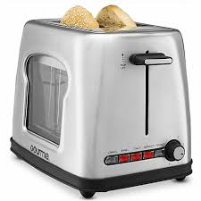 Images Of Bread Toaster Toaster Gourmia Gwt430 Stainless Steel Wide Slot Toaster With See