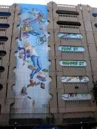 technology garage cool new parking garage mural in downtown san diego cool san