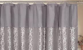 Curtain With Hooks Woven Jacquard Shower Curtain Groupon Goods