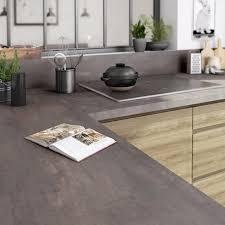 plan de travail stratifié cuisine plan de travail stratifié effet acier trempé mat l 315 x p 65 cm ep