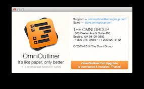 omnioutliner 4 for mac user manual every single menu item and