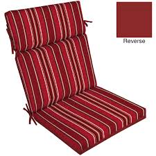 decor beautiful red outdoor patio chair cushions in red stripped