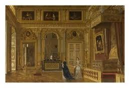 chambre louis 14 vue de la chambre à coucher du roi louis xiv à versailles en 1861