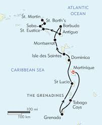 Caribbean Ocean Map by Hidden Gems Of The Caribbean Itinerary U0026 Map Wilderness Travel