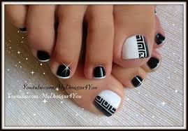 white and black toe nail designs choice image nail art designs