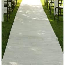 aisle runner burlap aisle runner ivory 36 x 100 t147 22