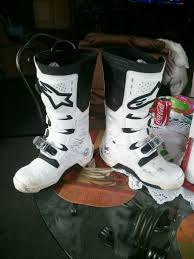 motocross boots size 7 sold alpinestars tech 7 size 9 white only 3 rides on them for