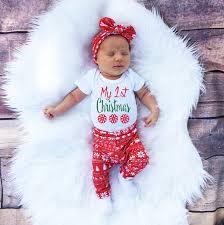 my christmas baby girl 3pcs my christmas newborn baby clothes set boys