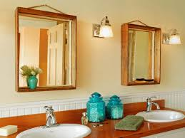 How To Make A Bathroom Mirror Frame How To Turn A Wood Crate Into A Mirror Frame How Tos Diy