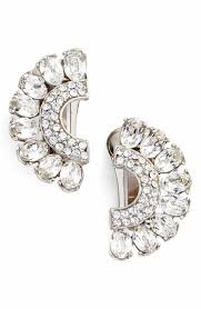 Beaded Chandelier Clip Earrings White Women U0027s Clip On Earrings Nordstrom