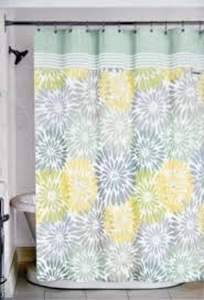 Blue And Green Shower Curtains Bathroom Color Peri Home Bayberry Fabric Shower Curtain Yellow