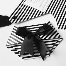 black and white stripe diaper baby shower invitation