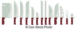 kinds of kitchen knives vector clip of types of kitchen knives set different types