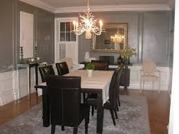 Dining Room  Dining Room Decor Gray Ideas With Chandelier With - Leather and fabric dining room chairs