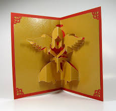 Angels Home Decor by Christmas Angel 3d Pop Up Greeting Card Home Décor Handmade