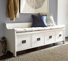 White Bench With Storage Amazing Of Front Hall Bench With Storage Details About White