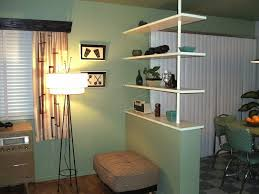 kitchen room design interior green white bookcase kitchen living