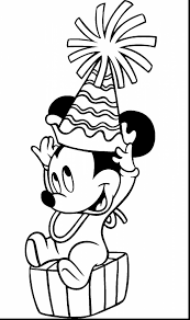 awesome baby mickey and minnie mouse coloring pages with mickey