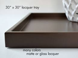 square tray for coffee table extra large square ottoman tray shallow modern coffee table
