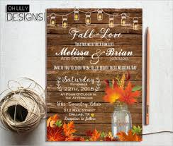 fall wedding invitations 26 fall wedding invitation templates free sle exle