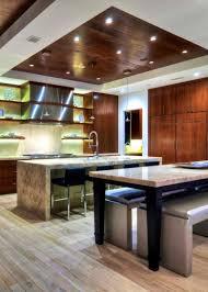 hauteur ilot central cuisine design ilot central bois moderne cuisine galerie avec hauteur ilot