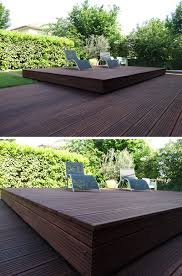 deck design idea this raised wood deck is actually a sliding