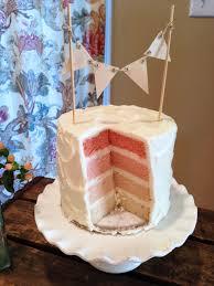 gender reveal cake topper pink cake