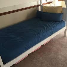 Bunk Bed Cap Denim Bunk Bed Cap Chambray Or Indigo Fitted Denim Bedding