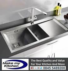 Square Kitchen Sinks by Rangemaster Senator Square 1 5 Bowl Stainless Steel Kitchen Sink
