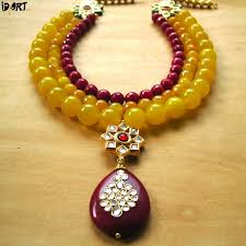 red fashion necklace images Designer fashion jewellery necklace set with red kundan pendant jpg