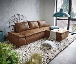 sofa mit ottomane delife clovis schwarz mit hocker wohnlandschaft interiors