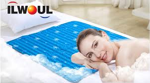 ilwoul cool gel mattress bed pad cooling topper blue 90x90cm no
