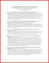 annotated bibliography template example of an annotated