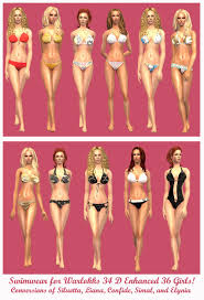 Liana Sims 2 Preview Women S Clothing Swimwear Curvalicious Sims 2