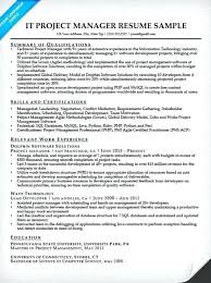 project manager resume sample free download writing tips companion