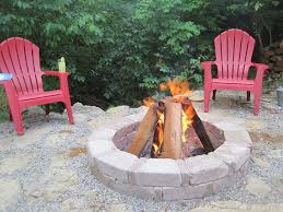 Stone Patio With Fire Pit Creating A Creek Stone Patio U0026 Fire Pit Hometalk