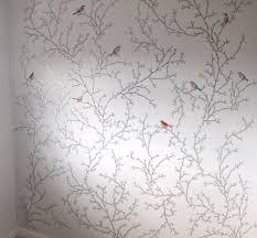diy birds u0026 butterflies wallpaper every home is a castle