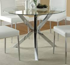 Dining Table Bases For Glass Tops Dining Dining Room Furniture Round Glass Top Dining Table With
