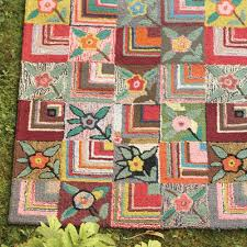 wool hooked rug and nursery necessities in interior