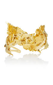 gold leaf bracelet images M 39 o exclusive gold leaf bracelet by ana khouri moda operandi jpg