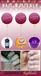 get whiter nails hairspray and highheels