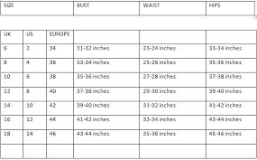 womens dress size chart laura williams