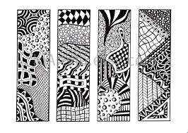 7 best images of zentangle free printables bookmarks printable
