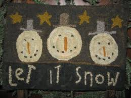 82 best rug hooking christmas images on pinterest