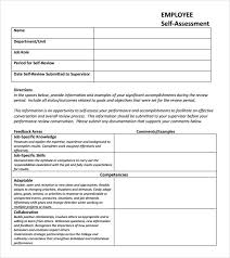 Goals And Objectives Template Excel Sle Self Assessment 9 Documents In Pdf Excel