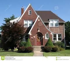 brick cape cod home stock photo image 91270542