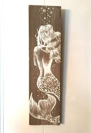 artwork on wooden boards best 25 mermaid paintings ideas on paintings of